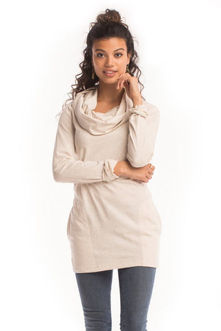 Heather Cowl Neck Tunic