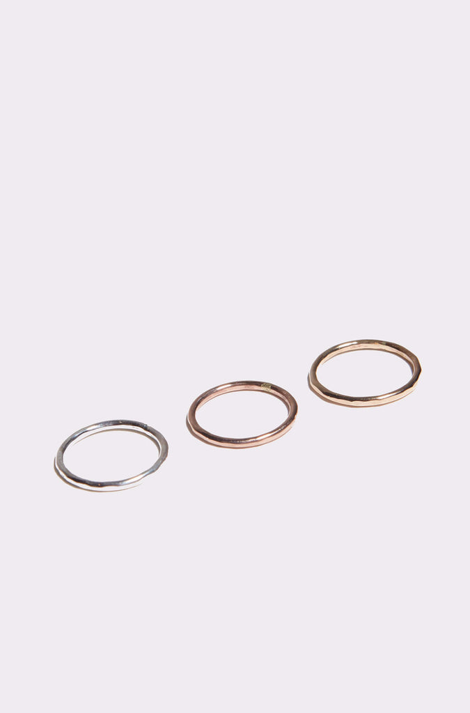 Individual Hammered Stacking Ring