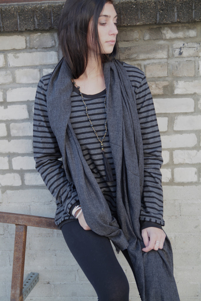 Striped Jersey Pullover, 100% Organic Cotton