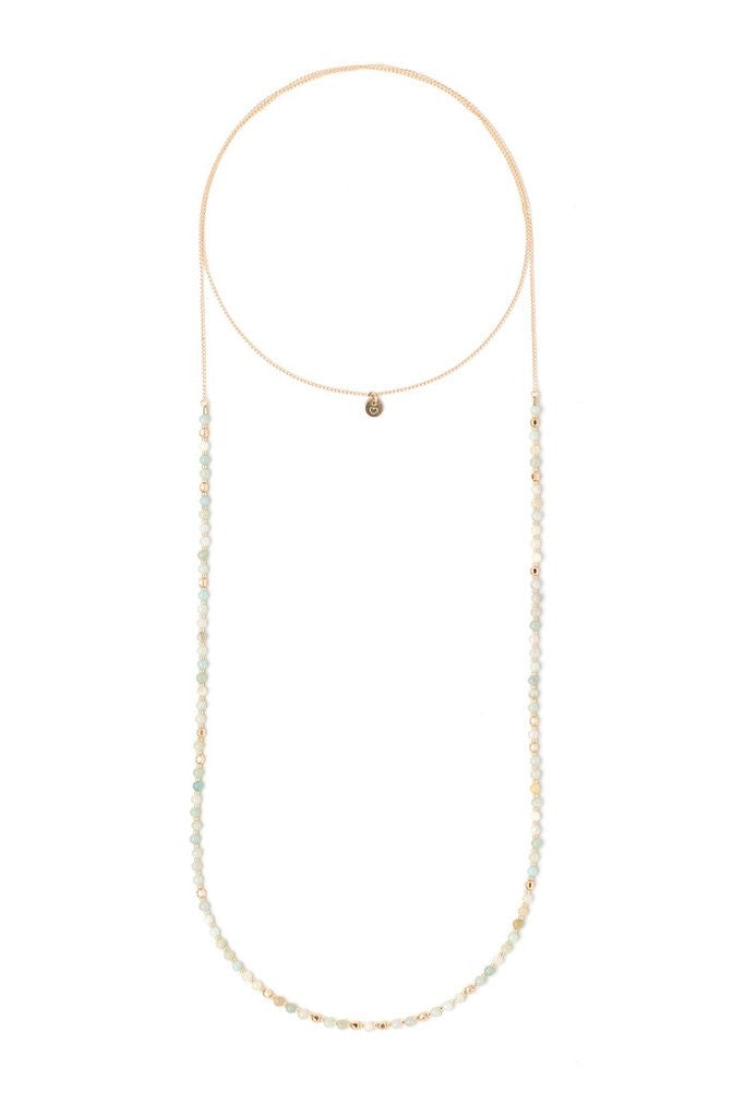 Stella Amazonite Wrap Necklace