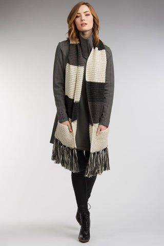 Stripe Pocket Scarf
