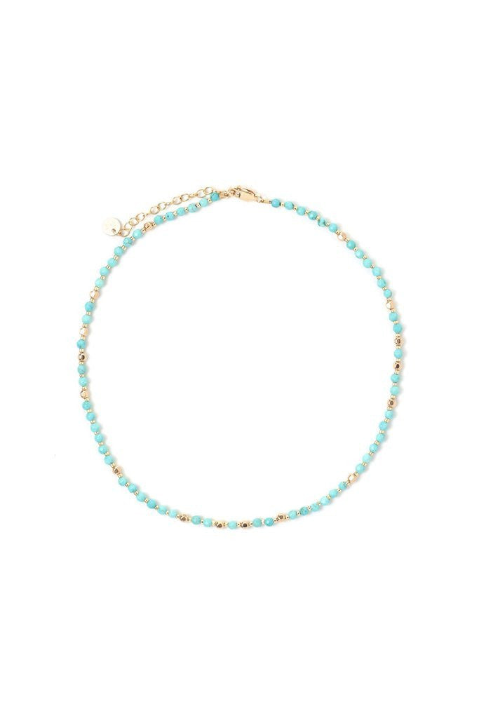 Turquoise + Gold Fancy Choker