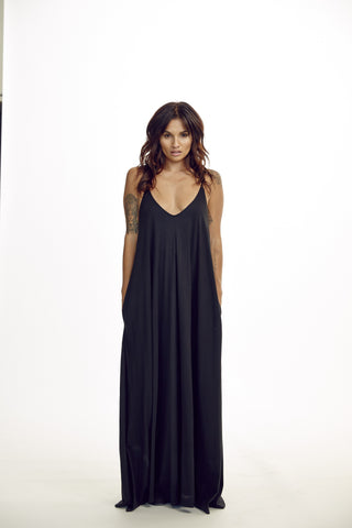 Avalon Maxi Dress-Black
