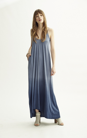 Avalon Maxi Dress-Ombre Blue