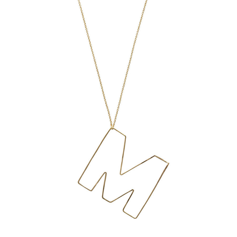 Capital Bubble Letter Necklace