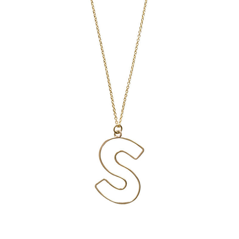 Lowercase Bubble Letter Necklace