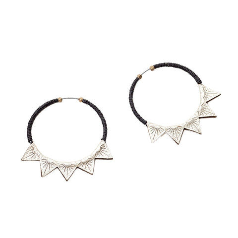 Triangle Burst Earrings