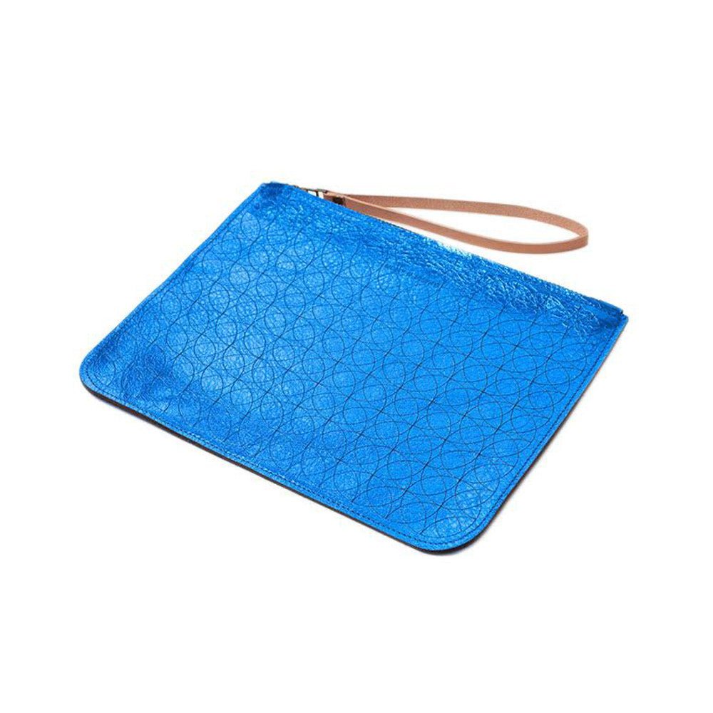 Royal Leather Wristlet