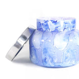 Blue Jean Watercolor Jar Candle