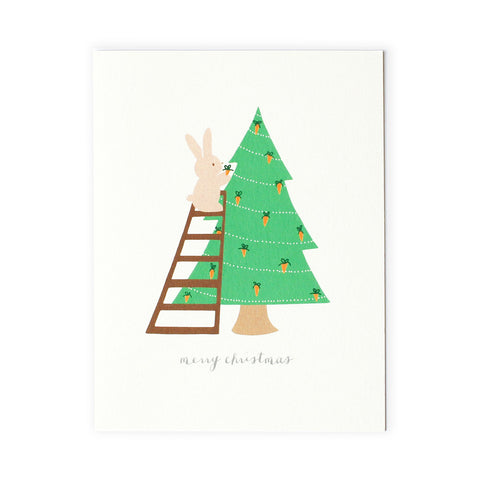 Bunny Christmas Tree Card Set