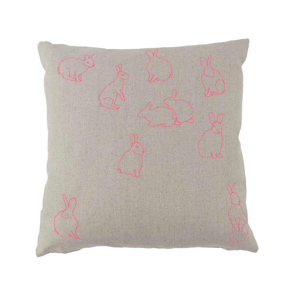 Neon Rabbits Pillow
