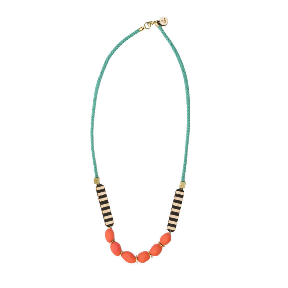 Clay and Stripe Necklace