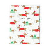 Dachshund Santas Card Set