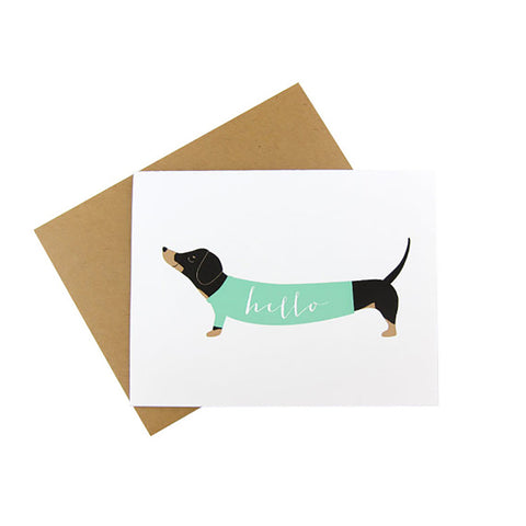 Sweater Dachshund Hello Cards
