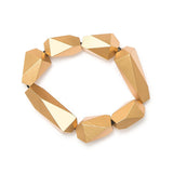 Metallic Faceted Bracelet