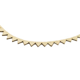 Gold Leather Triangle Burst Necklace