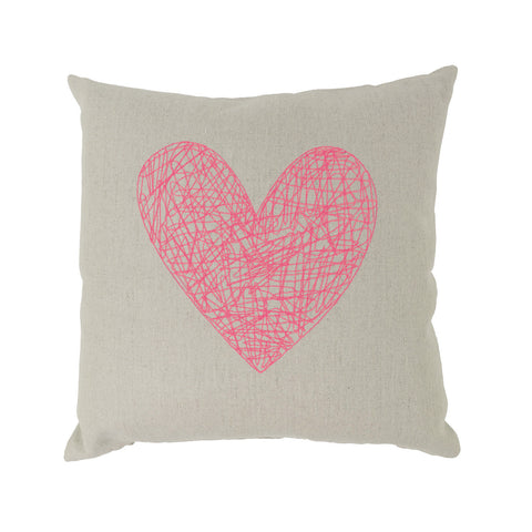 Neon Heart Pillow
