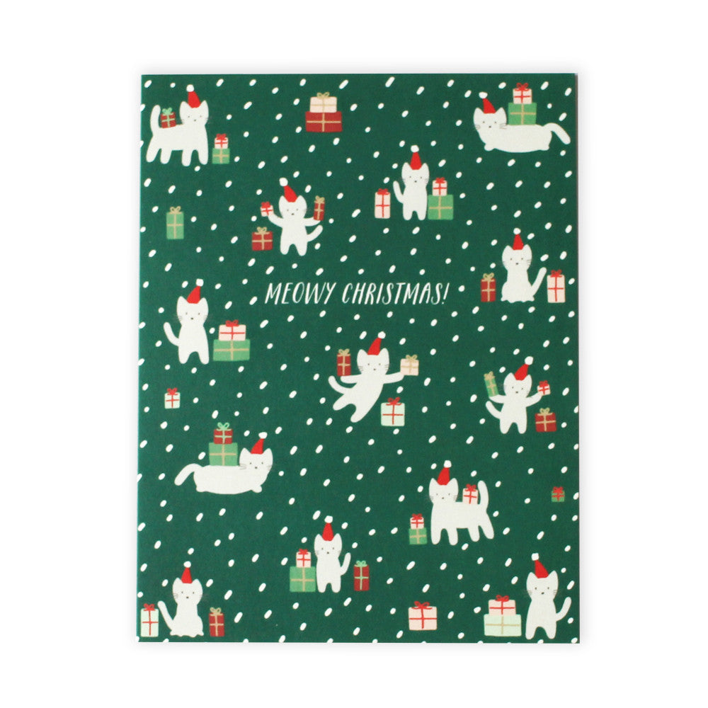 Meowy Christmas Card Set