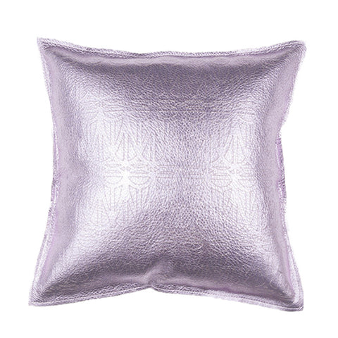 Metallic Leather Pillow