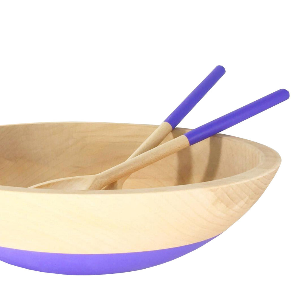 Color Dipped Beechwood Bowl