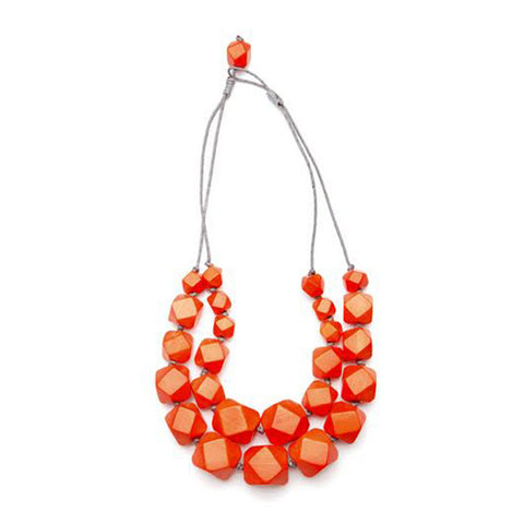 Double Strand Facet Necklace