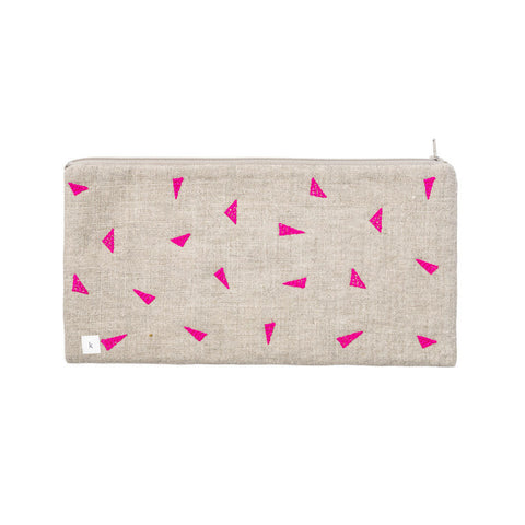 Pink Triangles Pouch
