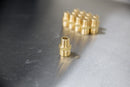 "Brass M22 Male (14mm) to 3/8"" Male NPT - Twist & Seal"