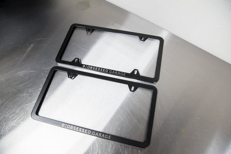 Obsessed Garage Stainless Steel License Plate Frame