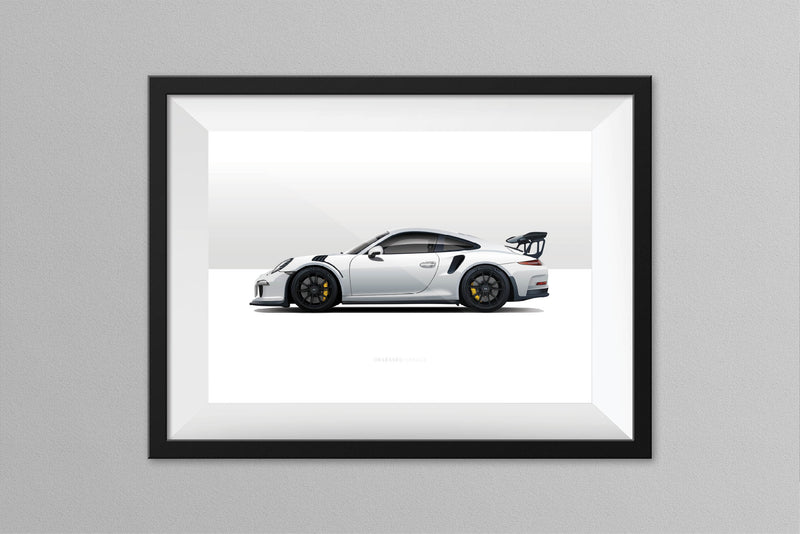 Obsessed Garage White 991.1 Illustration