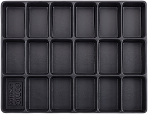 Empty Tray - 18 Compartments