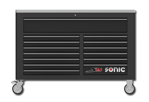 Sonic Tools Empty S15 Toolbox, 14 Drawers (Black)