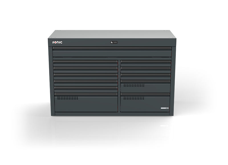 Sonic Tools MSS+ 1540mm drawer cabinet, 12 drawers