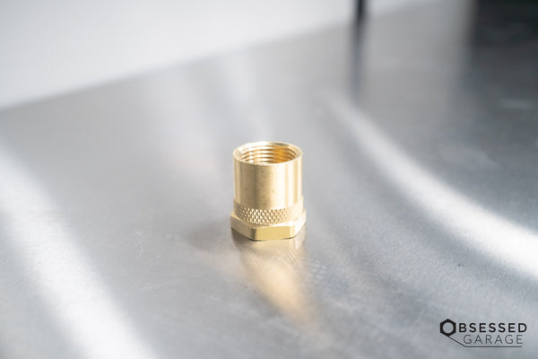"BRASS 3/4"" FEMALE NPT TO 3/4"" FEMALE GHT"
