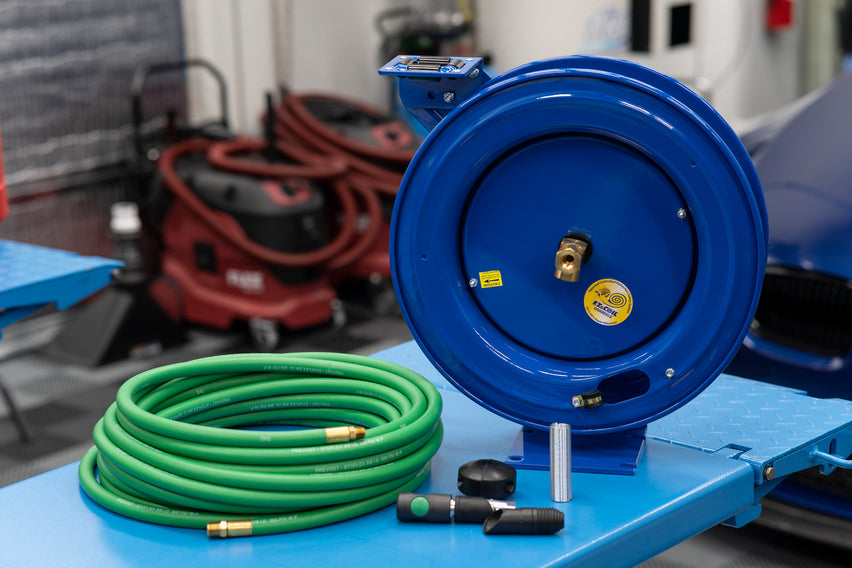 Custom Cox/Prevost Hose Reel Solution