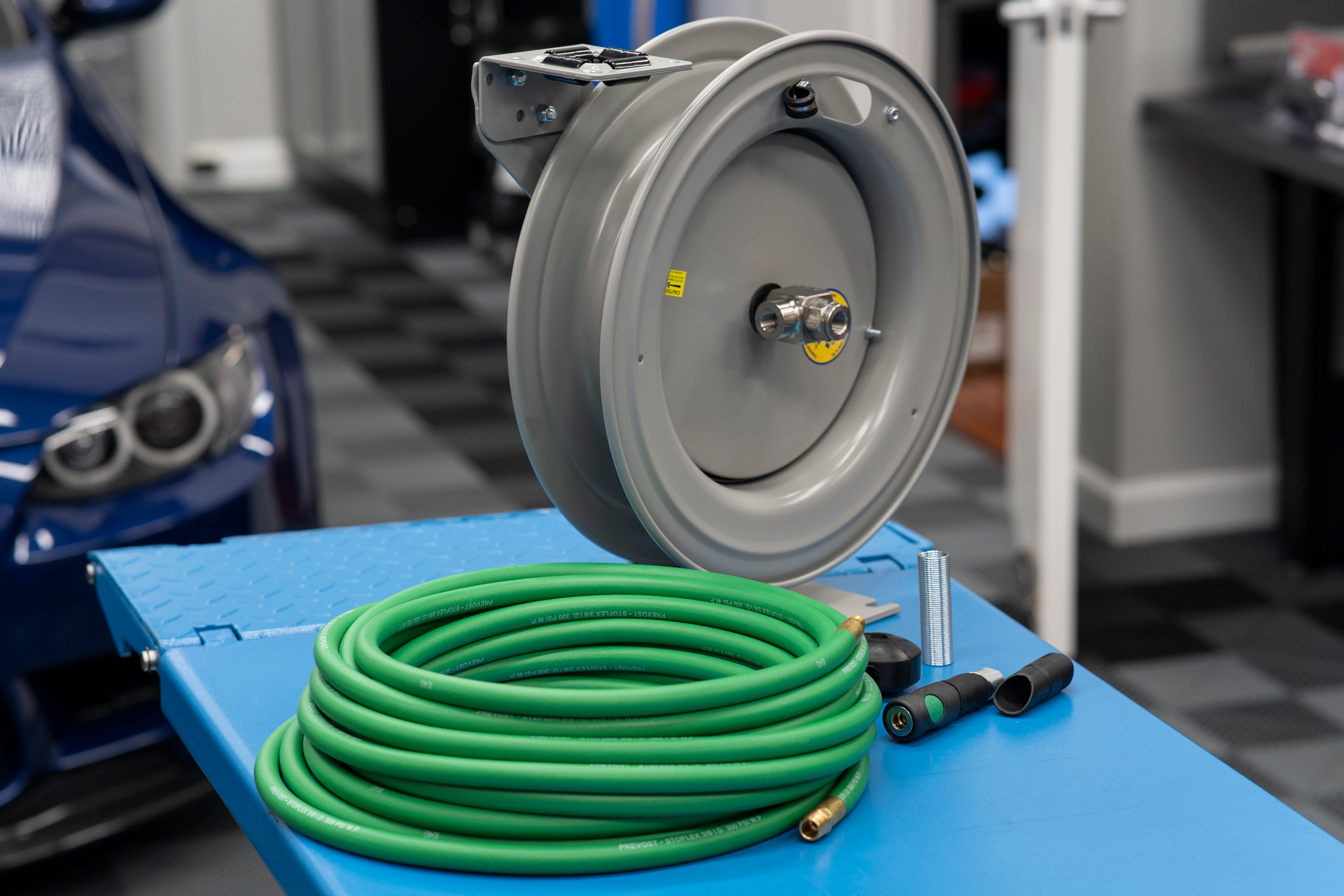 Custom Coxreels/Prevost Air Hose Reel Solution