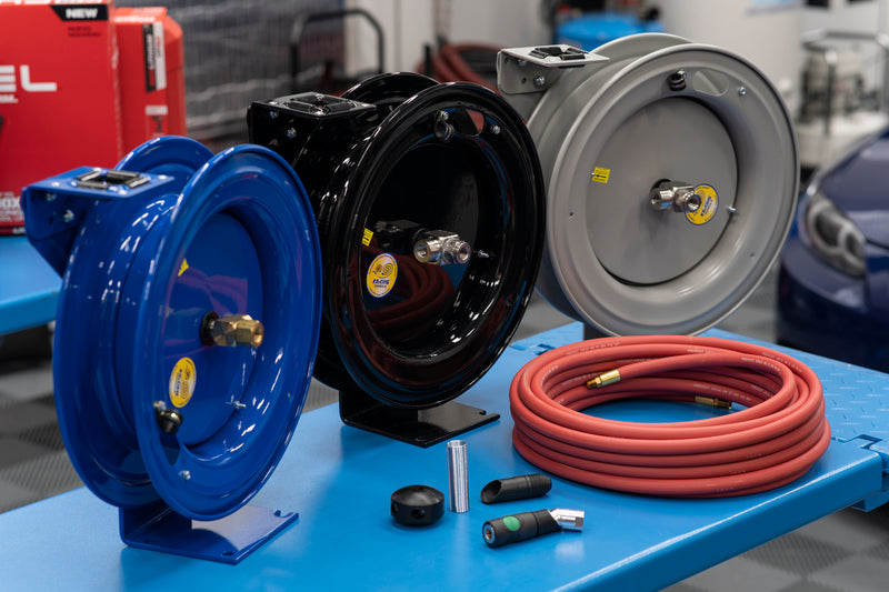 Custom Cox/Prevost Air Hose Reel Solution