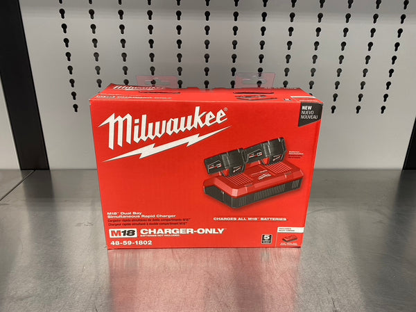 Milwaukee M18 Dual Bay Simultaneous Rapid Charger