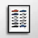 Obsessed Garage Signed Signature Cars Illustration