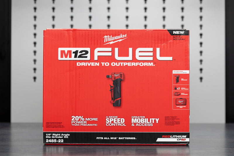 "Milwaukee M12 FUEL™ 1/4"" Right Angle Die Grinder"