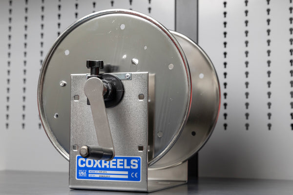 Stainless Cox Hand Crank Hose Reel