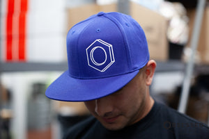 3D Hex Hat in Royal/White