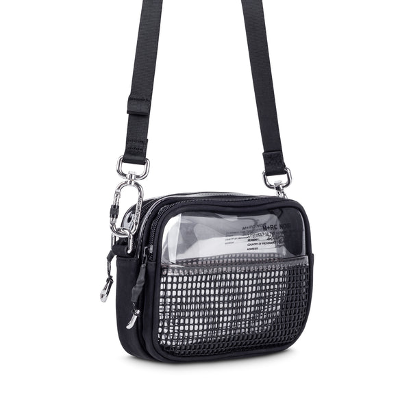 M+RC NOIR TRANSPARENT AND SILVER RUBBER MESH BAG