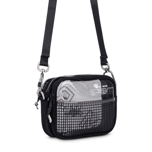 M+RC NOIR RUBBER MESH DARK BAG