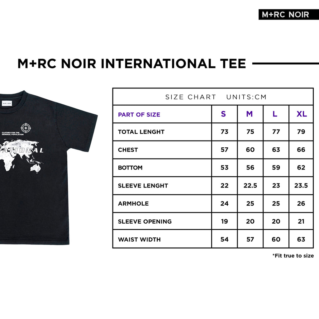 M+RC NOIR INTERNATIONAL BLACK TEE