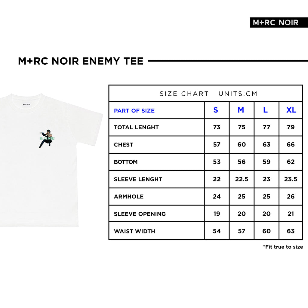 M+RC NOIR ENEMY WHITE TEE