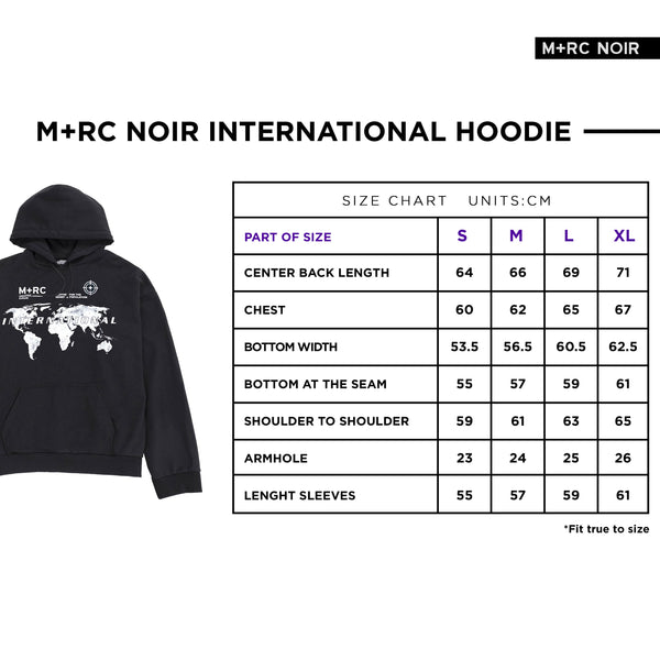 M+RC NOIR BLACK INTERNATIONAL HOODIE
