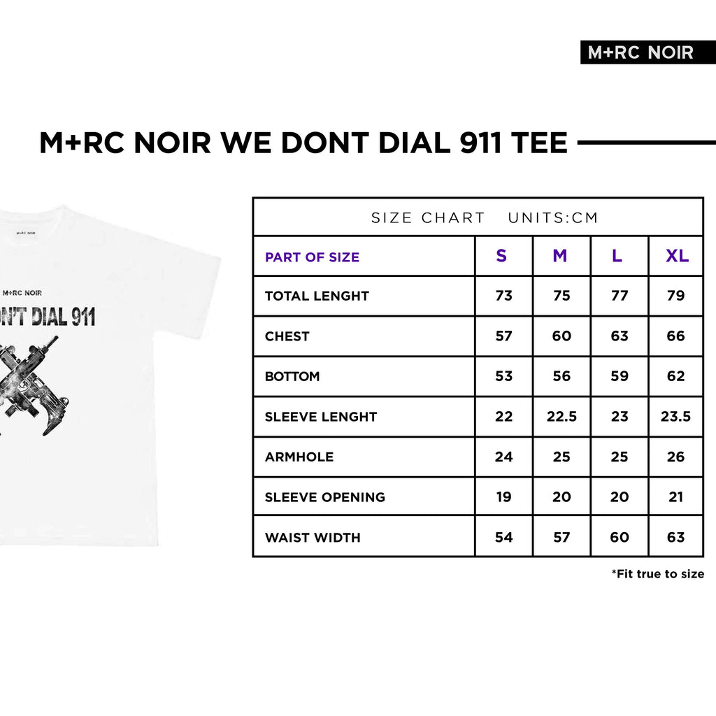 M+RC NOIR WHITE 911 TEE