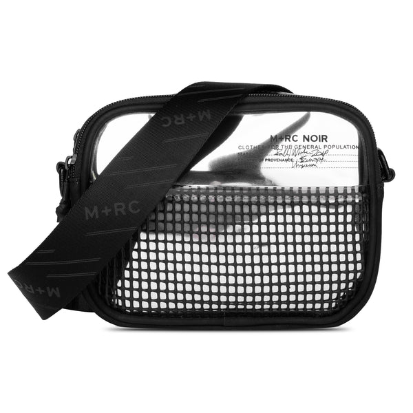 M+RC NOIR RUBBER MESH SILVER BAG