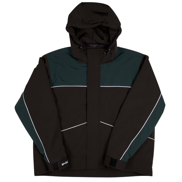 "M+RC NOIR BLACK ""LOST CAUSE"" BLACK AND GREEN JACKET-mrcnoir"