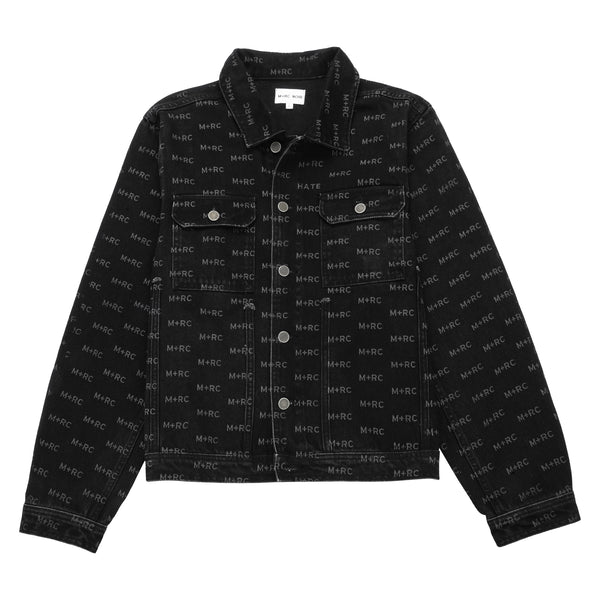M+RC NOIR HATE BLACK DENIM JACKET-mrcnoir